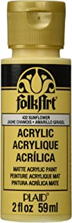product image for FolkArt Acrylic Paint in Assorted Colors (2 oz), 432, Sunflower