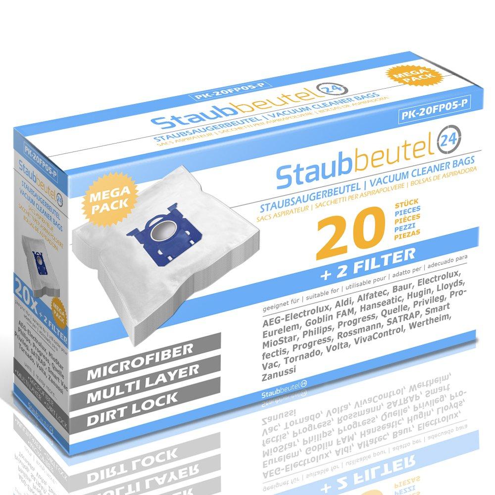 Staubbeutel24 20 Sacs ASPIRATEUR Premium pour Philips: City Line Barcelona FC9103 HR8331 Jewel FC9057 FC8429//02 Expression FC8602 PerformerExpert FC 8724//09 Specialist