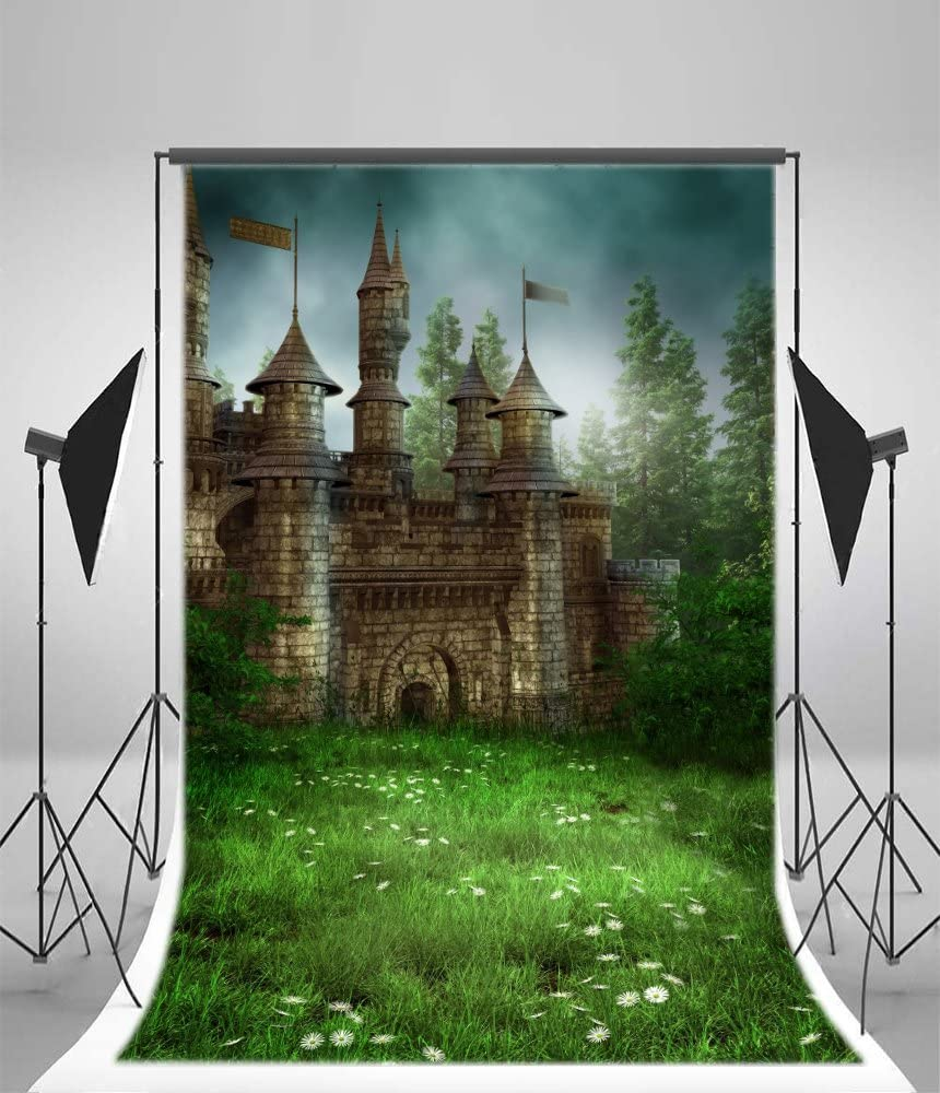 MEDIEVAL CASTLE Scene Setter PRINCESS party wall decor 5/' scenic window knight