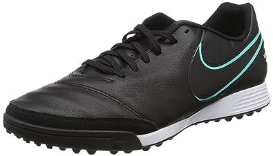 TiempoX Genio II Leather TF Black/Black/HyperTrq Shoes