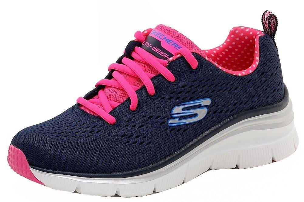 Skechers Fashion Fit-Statement Piece, Zapatillas de Deporte para Mujer 6 Navy Pink