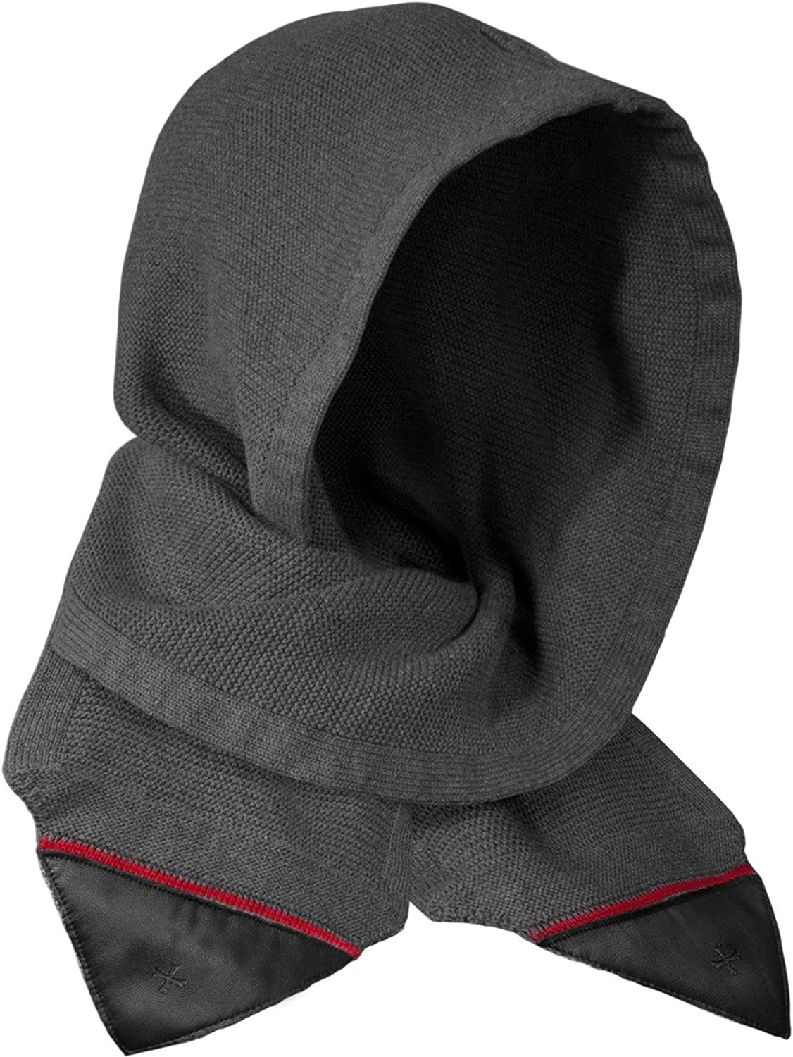 Deluxe Adult Costumes - Men's Assassin's Creed Solomon's mantle gray hooded scarf with Templar leather embellishments.