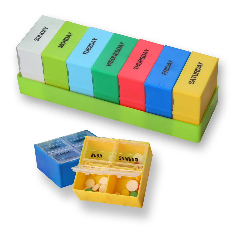 Storage Boxes & Bins Useful 28-slot Travel Pill Box Storage Weekly 7-day Medicine Container Holder Medical Storage Box Kit Living Supplies New Fine Workmanship