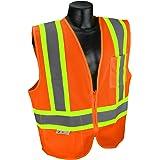 Radians SV22X-2ZOM-L Economy Mesh X-Back Class 2 Safety Vest with Two-Tone Trim, Hi-Viz Orange, Large