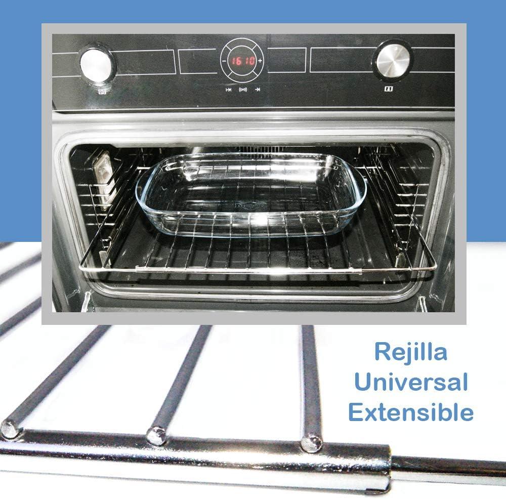 Parrilla rejilla para horno universal ajustable 320x350mm y extensible hasta 550mm. Parrilla de acero inoxidable para recambio de hornos compatible grandes marcas.: Amazon.es: Grandes electrodomésticos