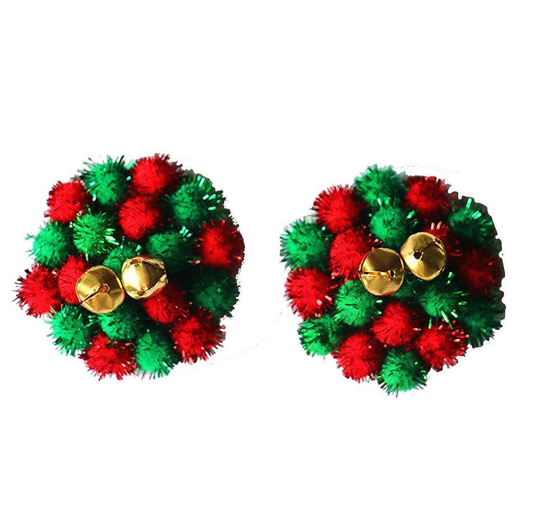 Christmas Jingle Bell Nipple Cover Pom Pom Pasties Tassels Reusable UK STOCK
