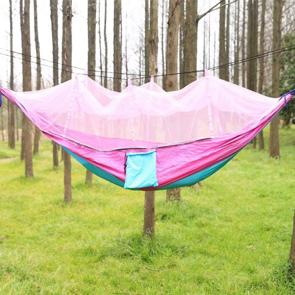 ZLL-hammock Hamaca, paño Anti-Mosquitos Doble para paracaídas con mosquitero Hamaca de Seguridad Anti-caída Camping para Actividades al Aire Libre al Aire Libre Turismo265x140cm