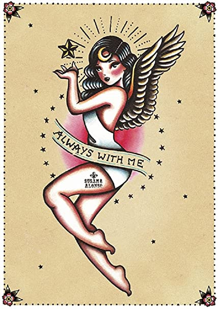 8d357bc735238 Amazon.com: Always with Me by Susana Alonso Old School Angel Pin Up ...