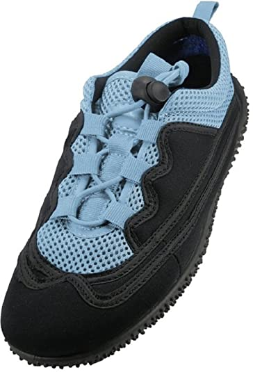 Women's Lace Up Water Shoes Black Blue