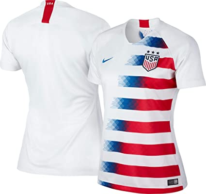 2017e9df1a205 Amazon.com : Nike 2018/19 Womens USA Stadium Home Jersey White/Red ...