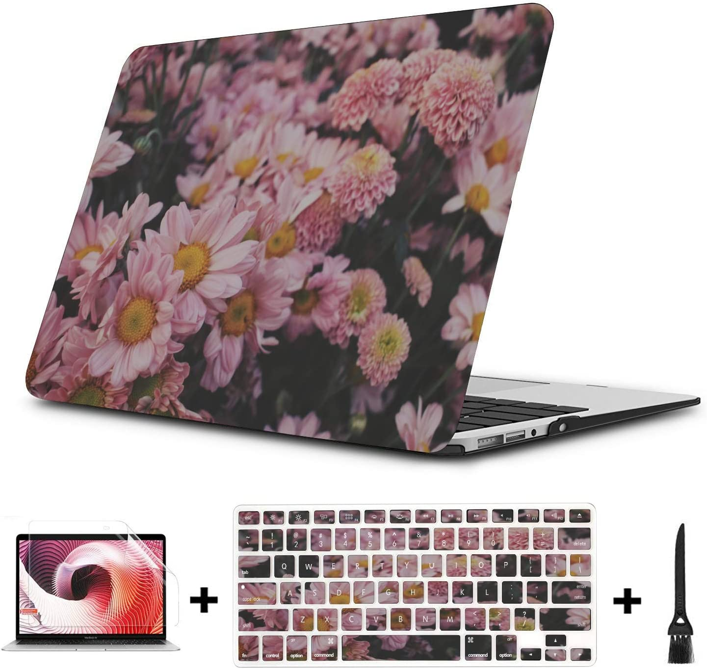 MacBook Pro Laptop Cover Spring Beautiful Pink Flower Fragrant Plastic Hard Shell Compatible Mac Air 11 Pro 13 15 Mackbook Pro Case Protection for MacBook 2016-2019 Version