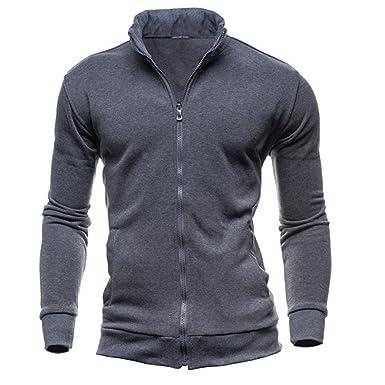 Hoodie Mantel Herren Sunday Herren Herbst Winter Freizeit Sport Cardigan  Reißverschluss Sweatshirts Tops Jacke  Amazon.de  Bekleidung edf296ba6f