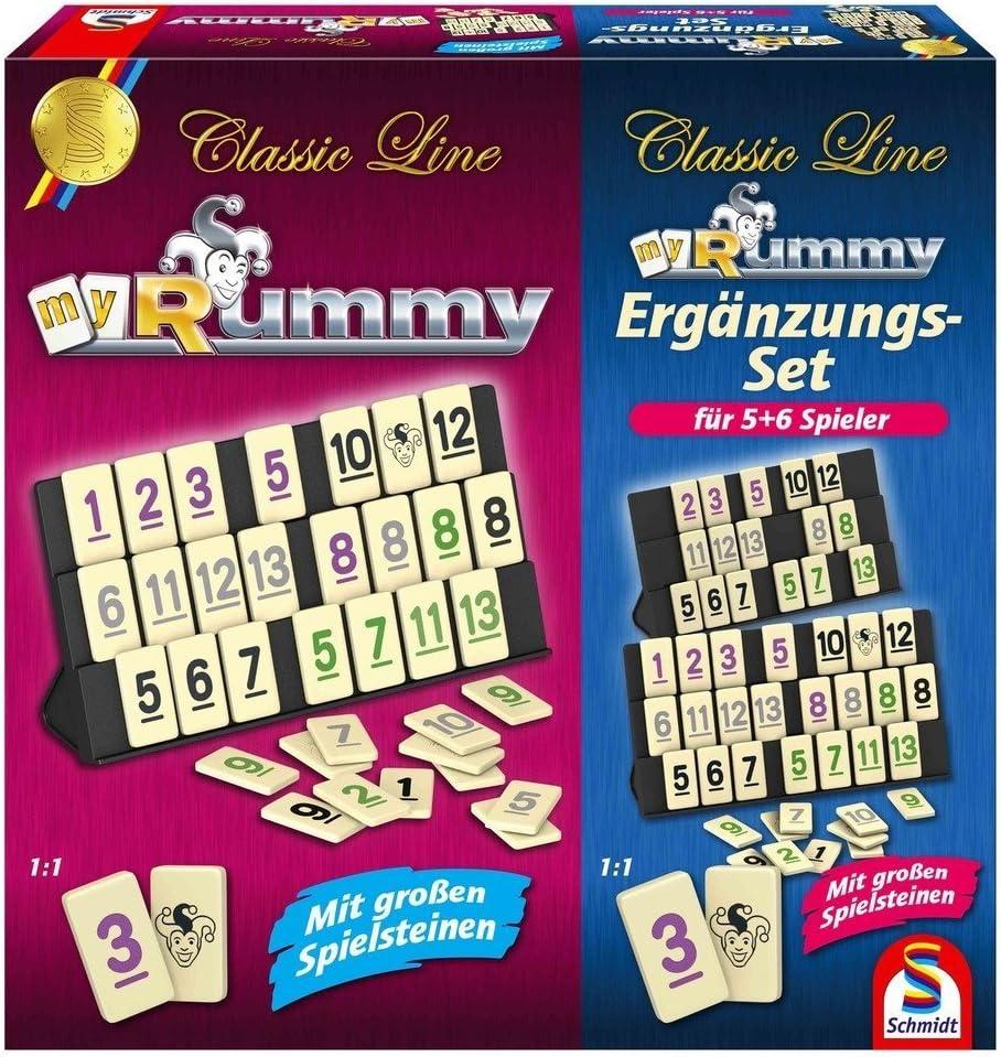 SCHMIDT SPIELE - Rummy con Juego de Complementos para 5-6 ...