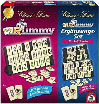 SCHMIDT SPIELE - Rummy con Juego de Complementos para 5-6 Jugadores - 49289: Amazon.es: Juguetes y juegos