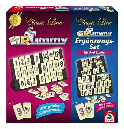 Schmidt Spiele 49233 - Rummy mit Ergänzungs-Set für 5+6 Spieler