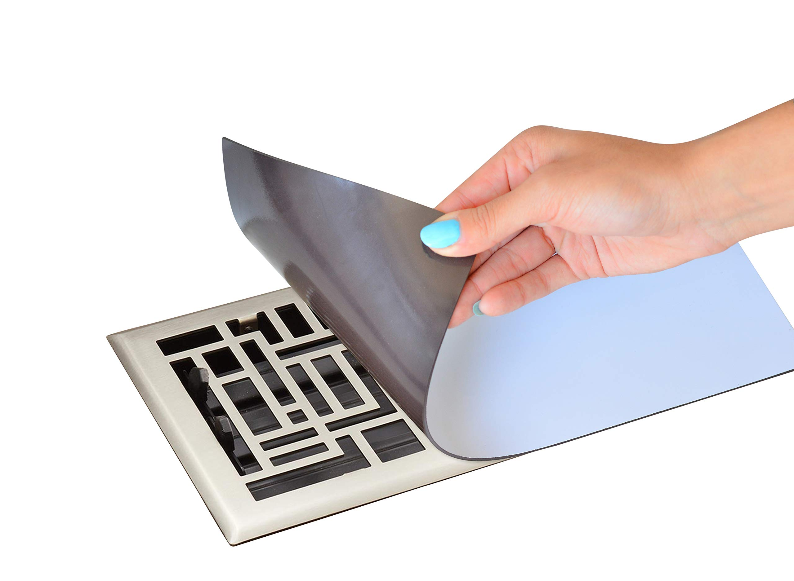 """4X Stronger Than Most Competitors 5.5""""x12"""" Ultra Magnetic Vent Covers (3-Pack) Will Stick to Any Floor Or Wall Vent (Not Recommended for Ceiling Or Aluminum Vents)"""