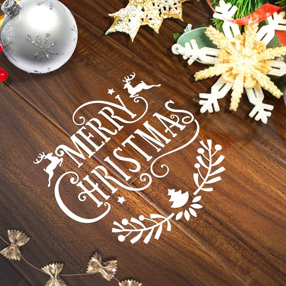 DIY Card Painting Craft Window Decor Scrapbook Making Homo Trends 16PCS Christmas Stencils Window Stencils Plastic Stencils Christmas Crafts Stencils for Crafts Reusable Snow Spray