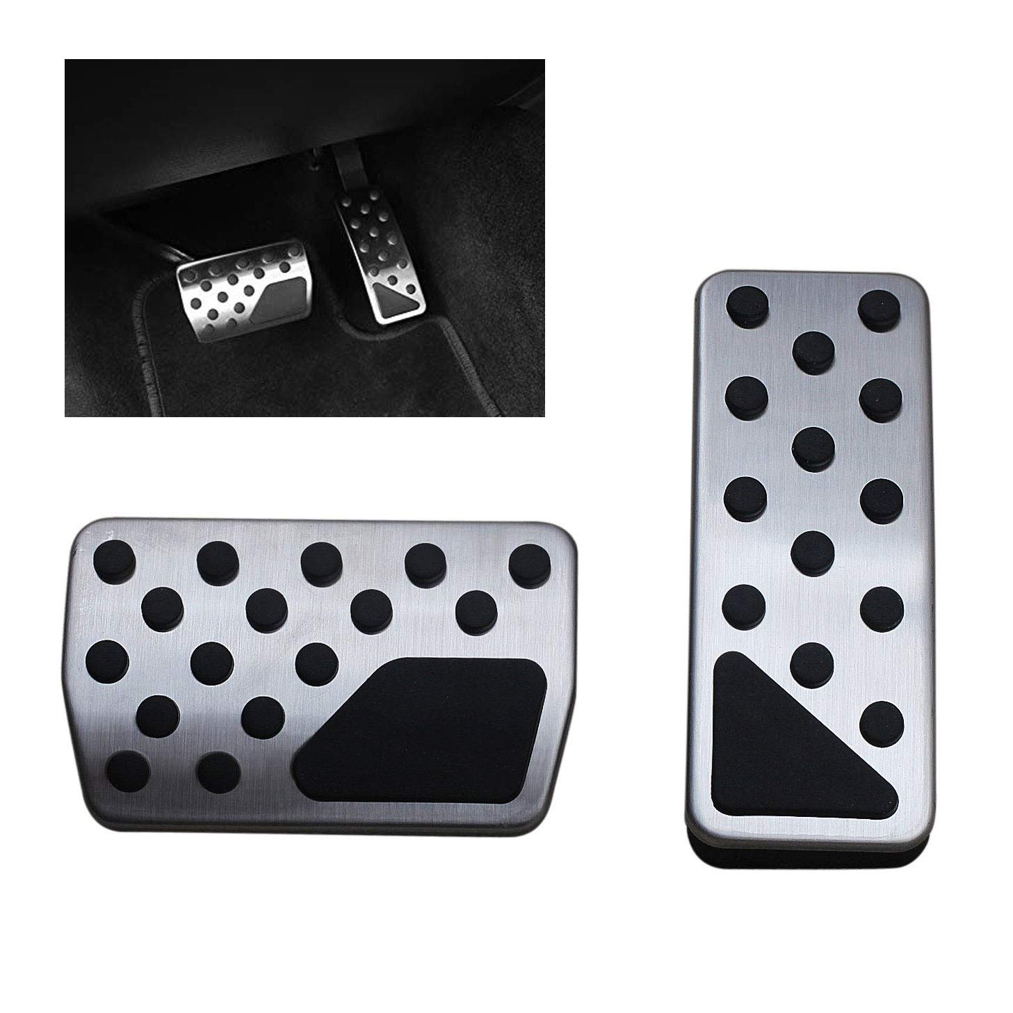 YYD Gas Brake Pedal Cover for Jeep Grand Cherokee Dodge Durango 2011-2019