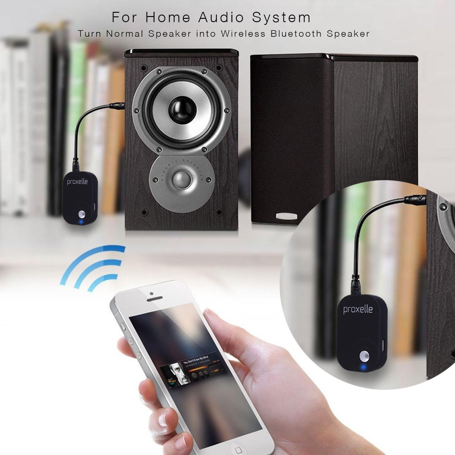 Electronic Use Android Phone As Bluetooth Audio Receiver amazon com bluetooth audio receiver turn your old device into ready electronics