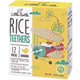 Little Turtle Rice Teethers, Banana Flavor, 12 wrapped 2 Pack, 4 Count