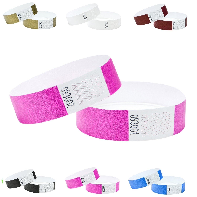 100 diverses Couleurs 19mm J/&R Bracelets Tyvek