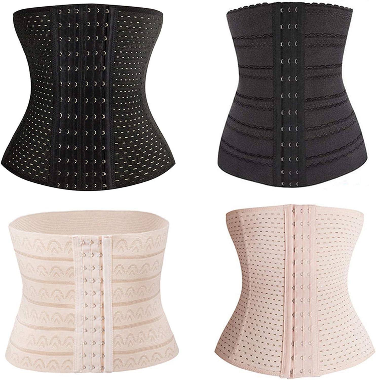 Huainsta Women Postpartum Shapewear Plus Size Nylon Slimming Body Shaper Belt Lady Breathable Corset Waist Trainer Slim Solid