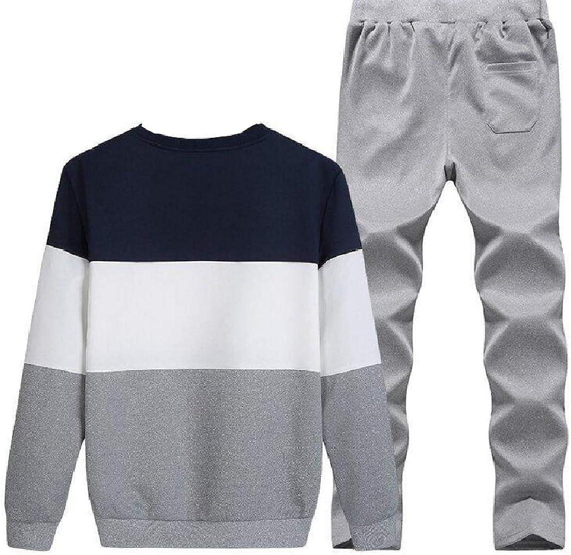 KaWaYi Mens 2-Piece Set Activewear Long Sleeve Track Set
