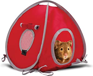Living World Tent for Pets, Red/Grey