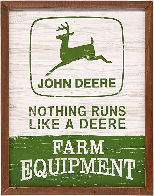 John Deere parking only metal tin sign rustic home decor US Seller