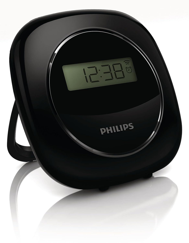 Philips Reloj - Despertador (Negro, LCD, 4 dígitos, Blanco, AAA, 82 mm): Amazon.es: Hogar