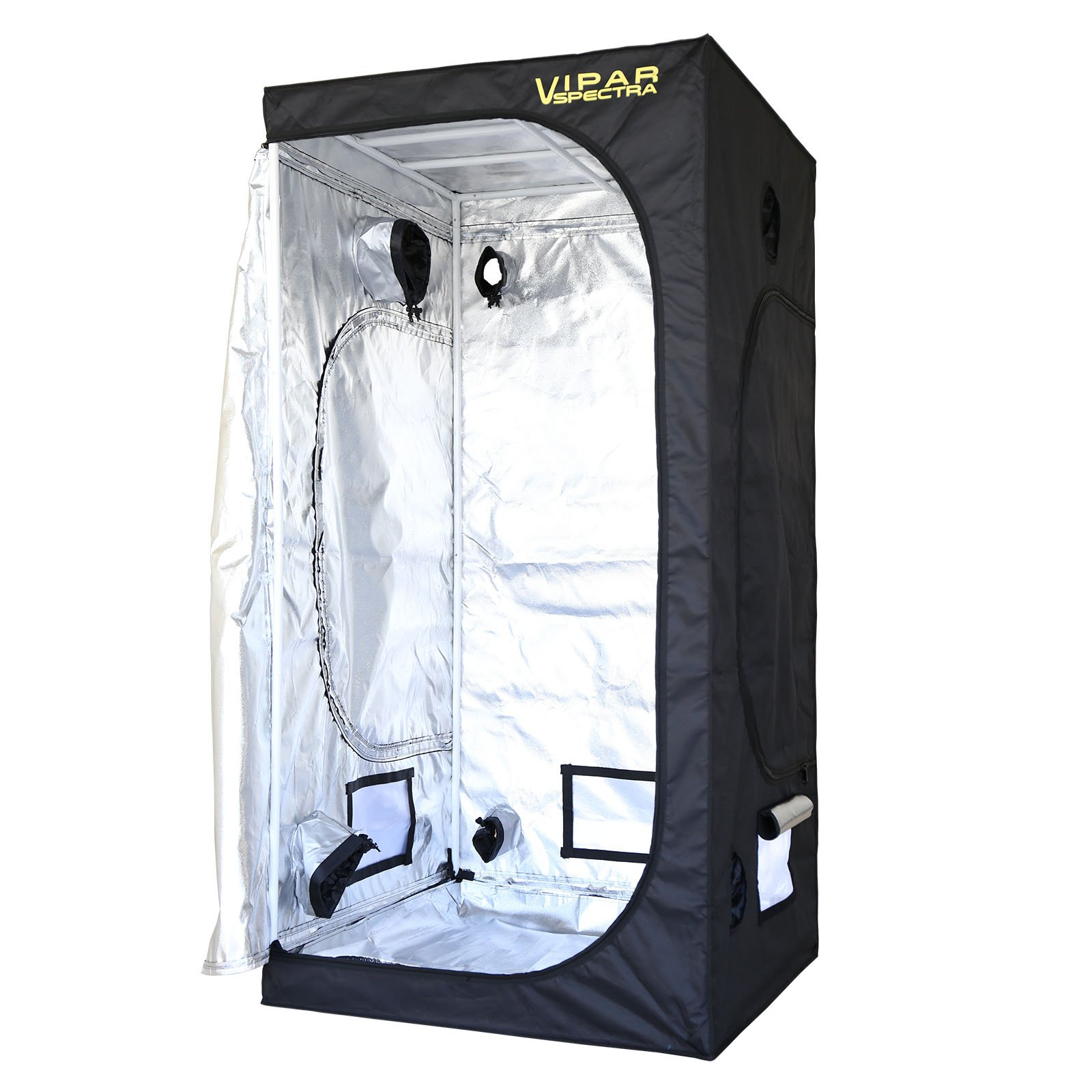 VIPARSPECTRA 36''x36''x72'' Reflective 600D Mylar Hydroponic Grow Tent for Indoor Plant Growing 3'x3'