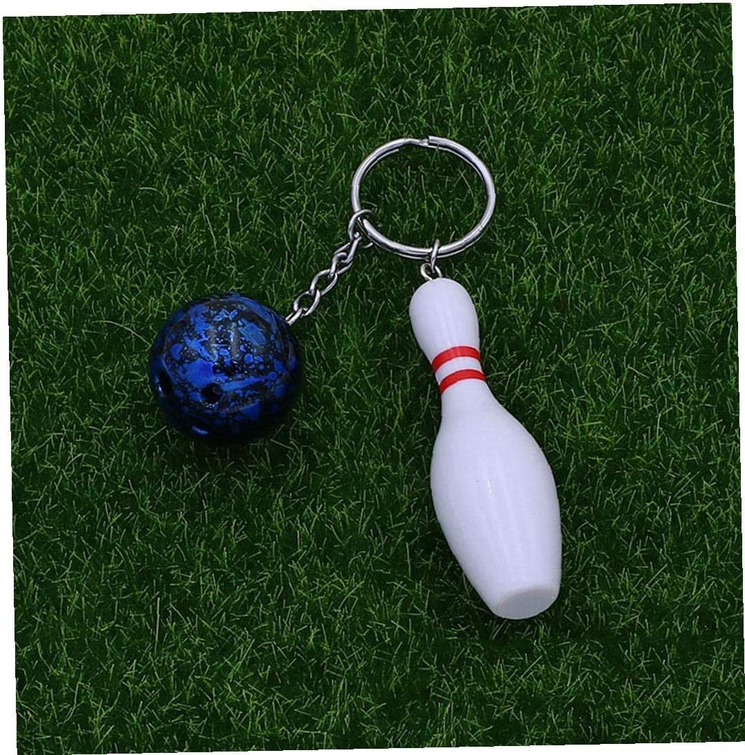 Gift Bowling Party Favors Uooker 4 PCS Bowling Pin Keychains Simulation Mini Personality Bowling Ball Keyring Key Holder