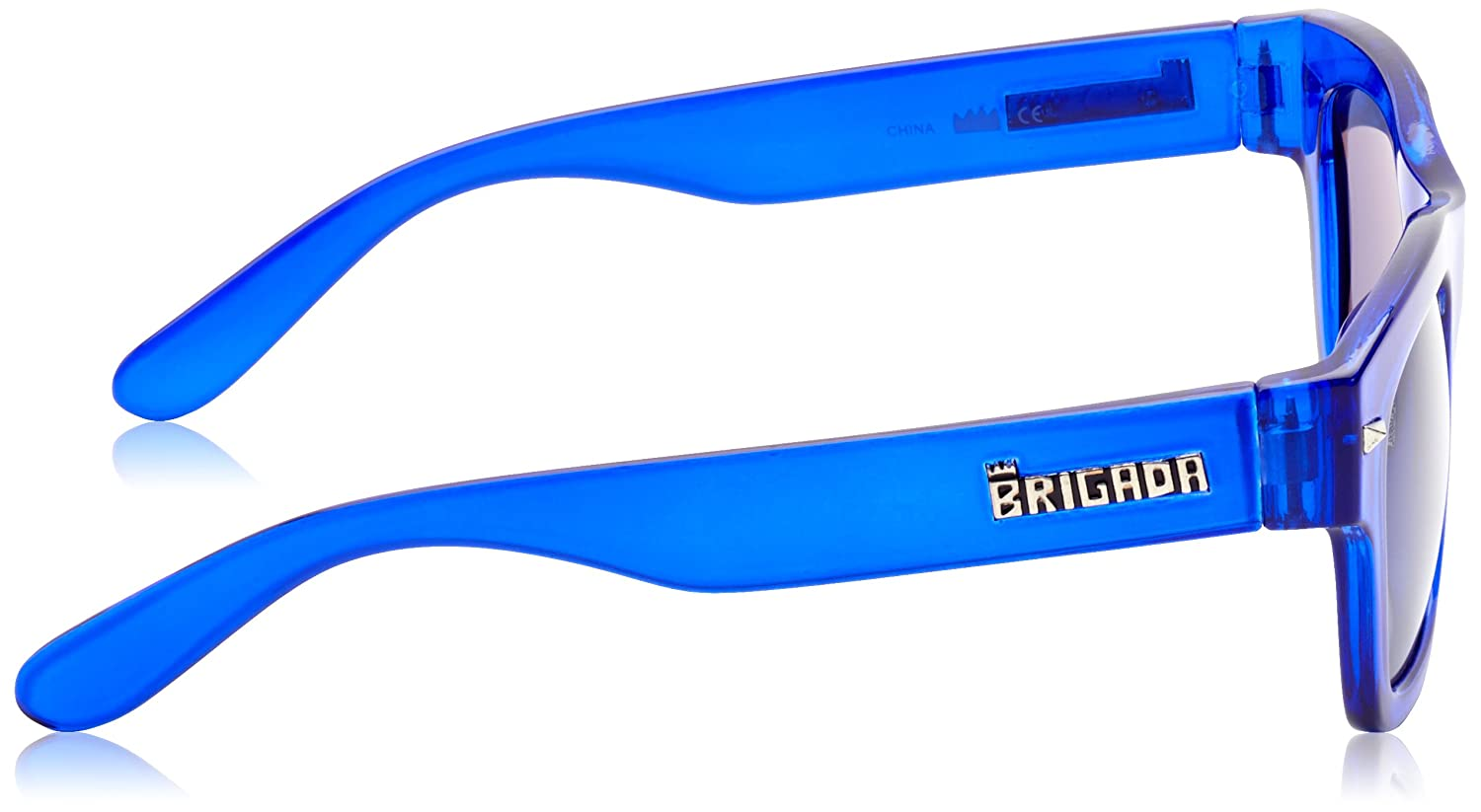 BRIGADA Sonnenbrille Glasses Big Shot, Clear Blue/Blue Lens, One size, BRGGLABISH
