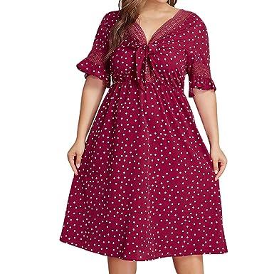 Amazon.com: RUIVE Women\'s Red Elegant Dresses Plus Size ...