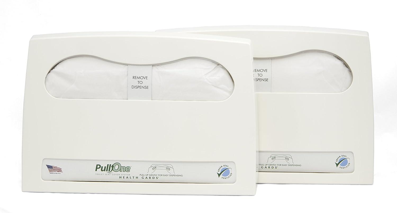 Health Gard PullOne Toilet Seat Cover Starter Kit HGP1KITB (Case of 2 Dispensers, 2 Packs of 600 Toilet Seat Covers) Hospeco
