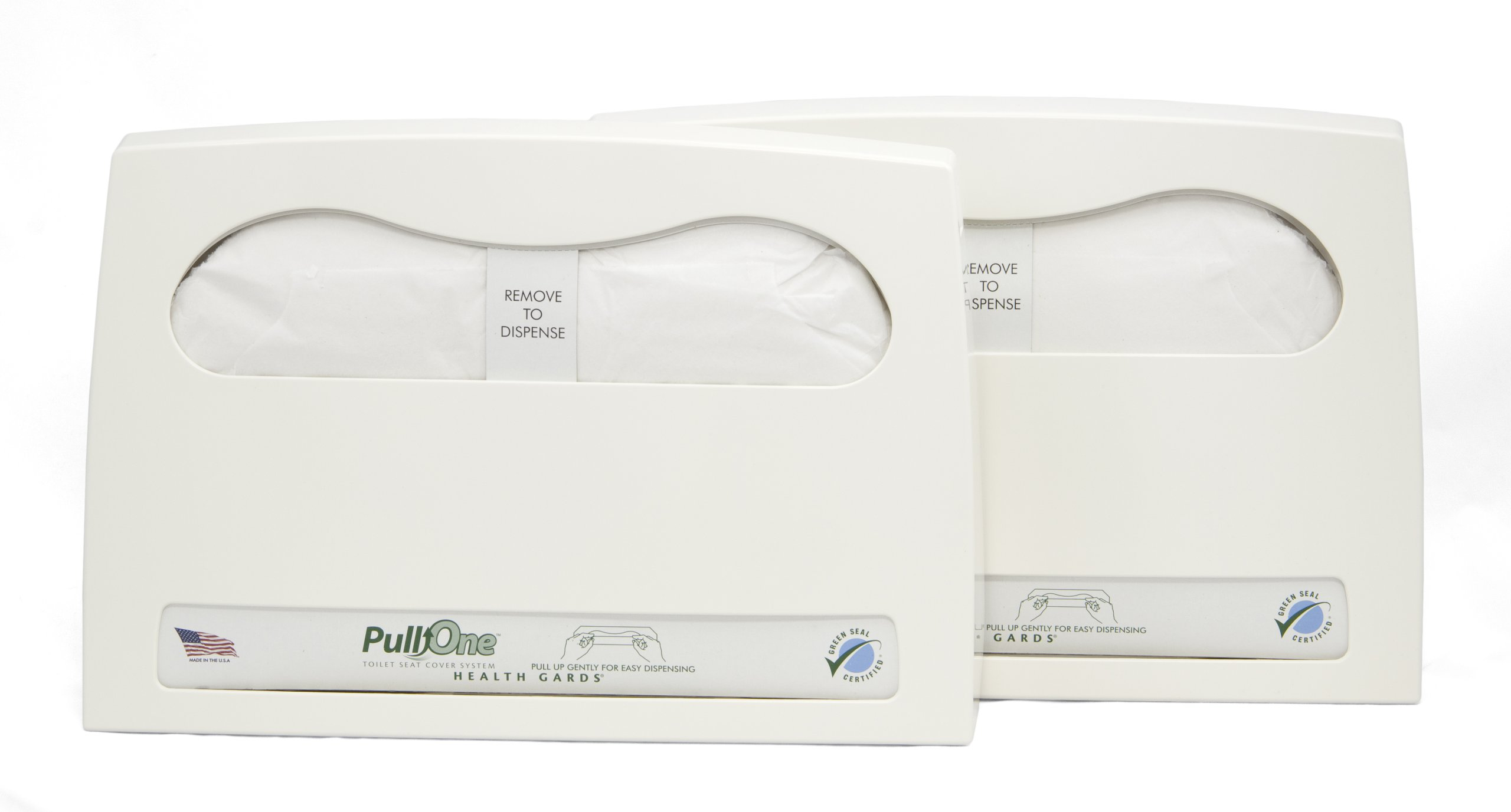 Health Gard PullOne Toilet Seat Cover Starter Kit HGP1KITB (Case of 2 Dispensers, 2 Packs of 600 Toilet Seat Covers)