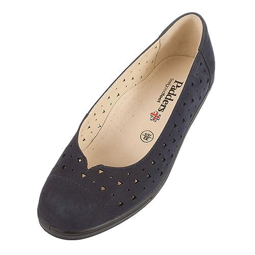 De 5 Azul Sandalias 36 Cuña Cuero Con Padders Talla Color Mujer v46Sn