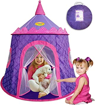 Outdoor Pink Playhouse with Glitter Girls Kids Play House Indoor Home Stickers