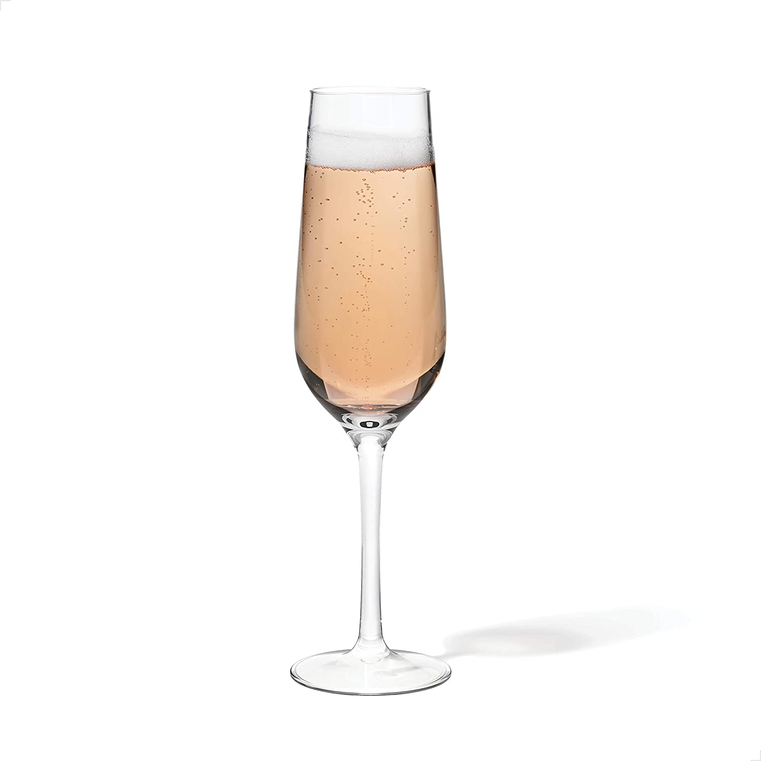 TOSSWARE 9oz Champagne Glass SET OF 4, Tritan Dishwasher Safe & Heat Resistant Unbreakable Plastic Flutes