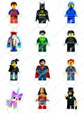 Cakeshop 12 x PRE-CUT Lego Movie Stand Up Edible Cake Toppers - Premium Wafer Paper