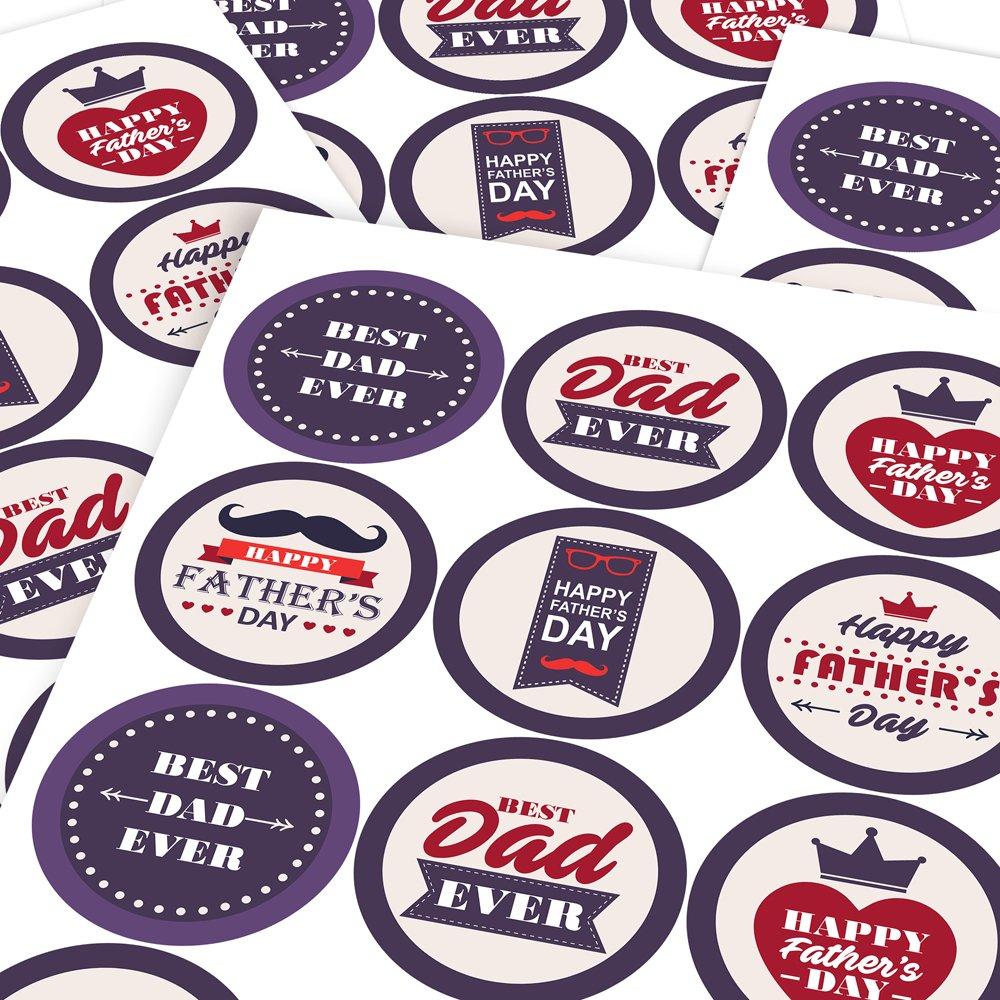 Graphic Flavour Classy Fathers Day Reward Sticker Labels Parents Teachers Children 6 Stickers @ 9.5cm