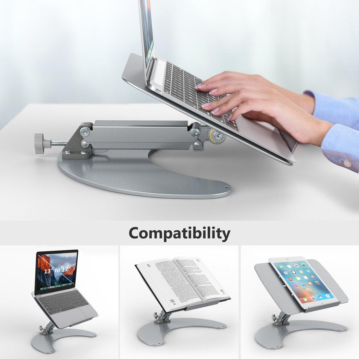 einstellbare Halter Aluminium, Anti-Slip, Gute Ventilation, f/ür Laptop Tisch, Tablet PC Handy usw. Slypnos Laptop Halter Halterung Tablet Halterung Universal Tischhalter