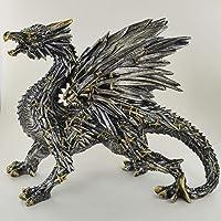 prezents. com Spada Drago Scultura incredibilmente Dettagliato Altare Ornamento per Fan del Fantasy & Magic