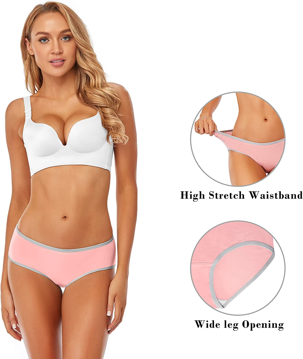 XS-4XL Cotton Underwear For Women Bikini Full Coverage Panties Soft Stretch Breathable Hispter Ladies Briefs 6 Pack