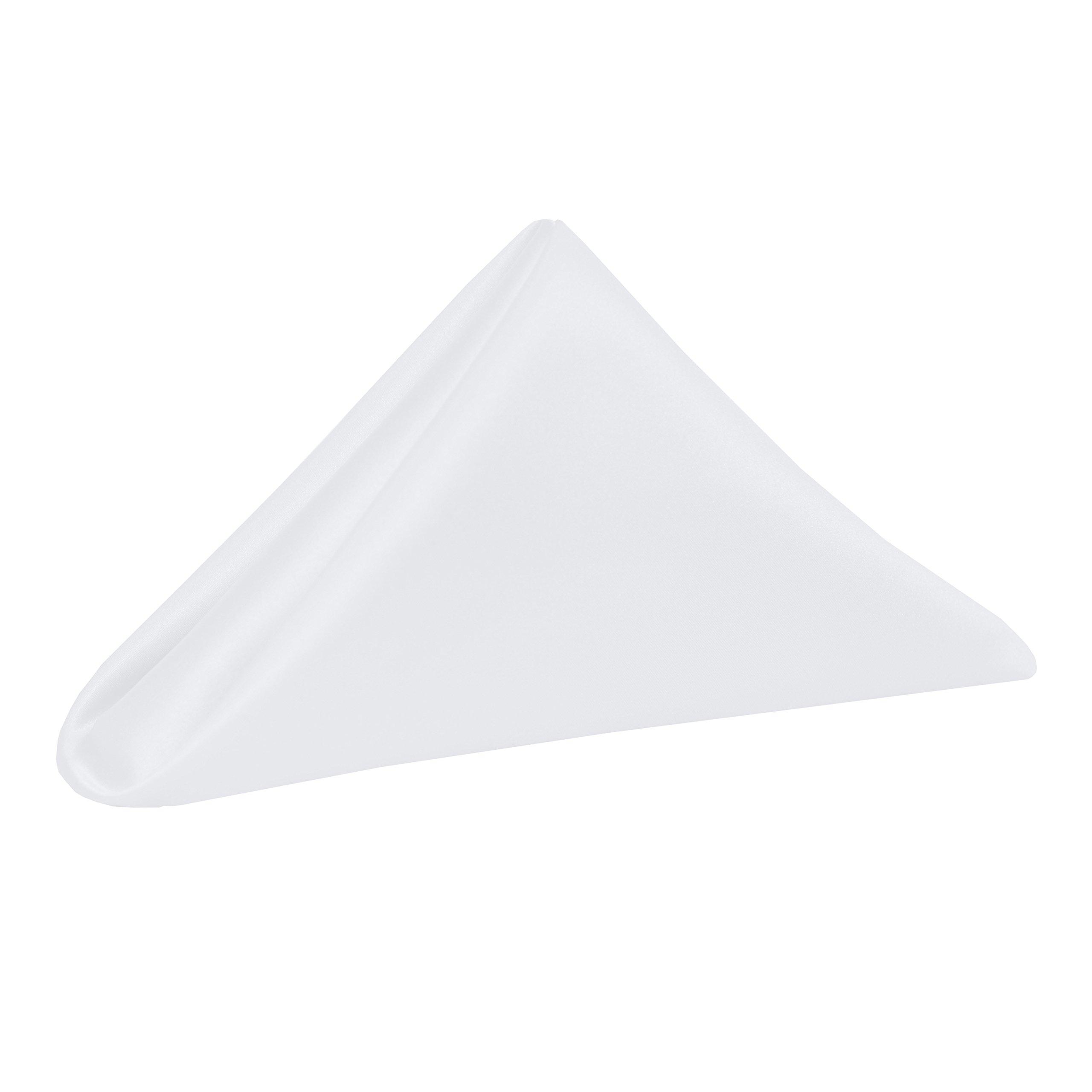 Ultimate Textile -5 Dozen- Bridal Satin 20 x 20-Inch Dinner Napkins, White