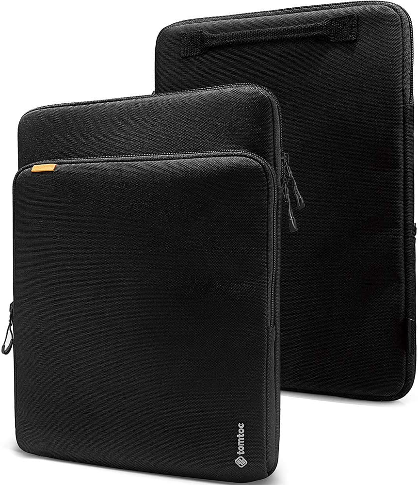 tomtoc 13-inch Protective Cordura Laptop Sleeve for 13-inch MacBook Air with Retina Display A2179 A1932, MacBook Pro A2251 A2289 A2159 A1989, 12.9 iPad Pro 3rd/4th Gen, Dell XPS 13, Waterproof Case