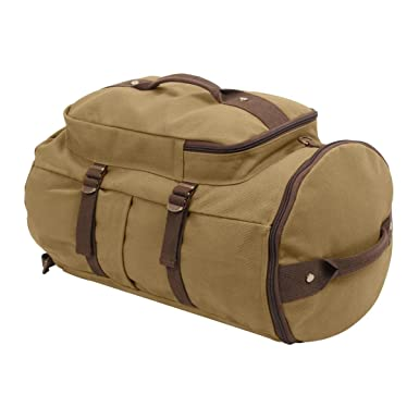 Image Unavailable. Image not available for. Color  Rothco Convertible  19 quot  Canvas Duffle Backpack ... 927c0b4e6e