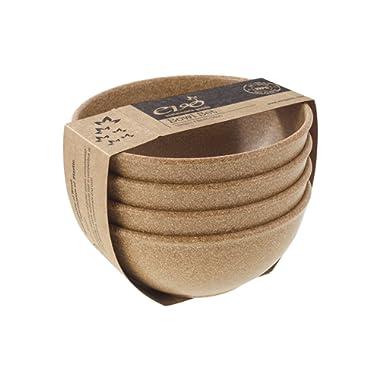 EVO Sustainable Goods 16 oz. Bowl Set, Light Brown