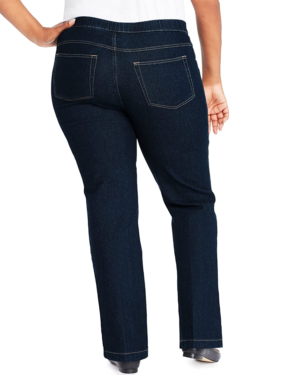 Just My Size Womens 4-Pocket Bootcut Jeans, Average Length, 1X, Blue Rinse