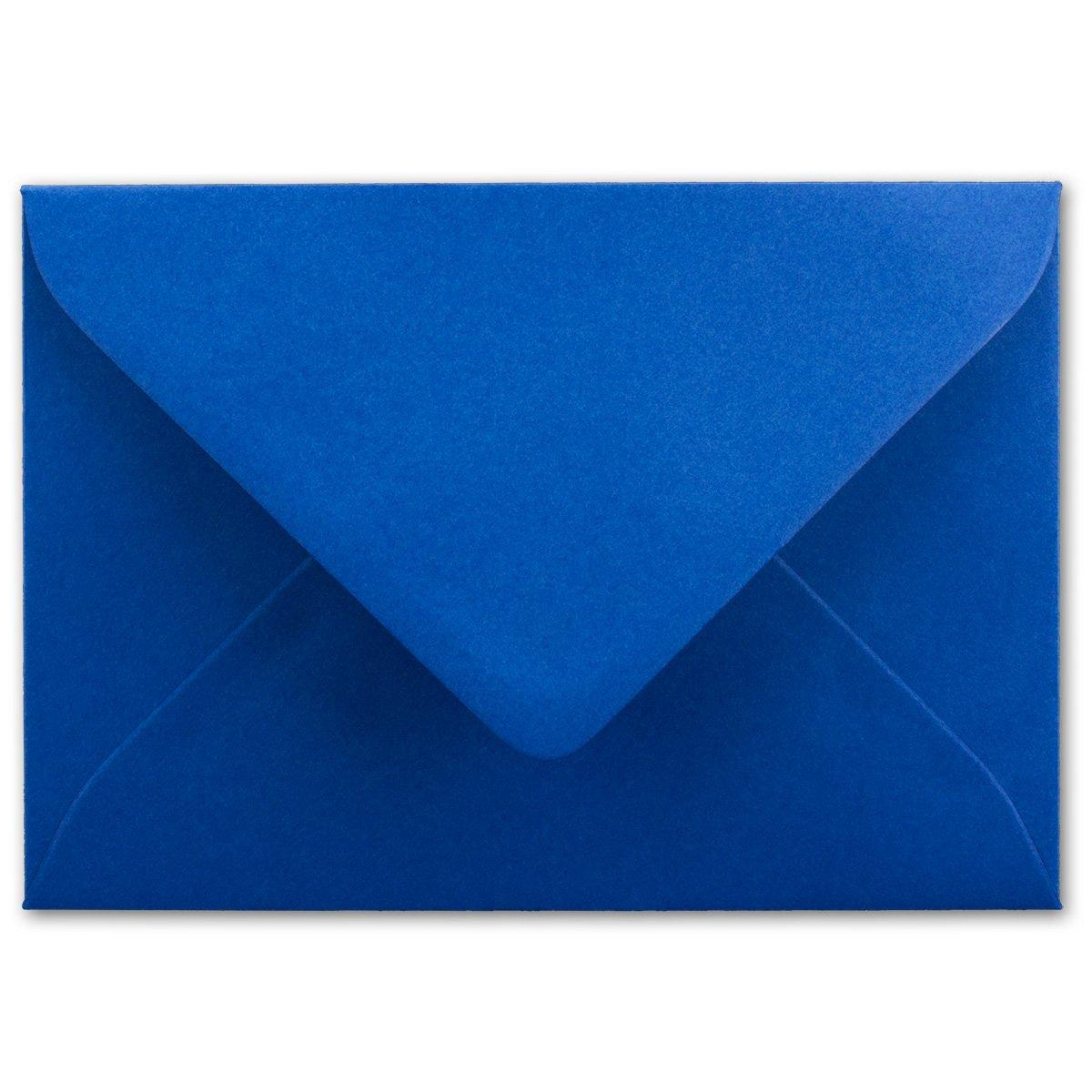 Brief-Umschläge in Nachtblau   150 150 150 Stück   DIN C5 KuGrüns 220 x 154 mm - Nassklebung ohne Fenster - Weihnachten, Grußkarten   Serie FarbenFroh® B07BPX7BJW | Eleganter Stil  121649